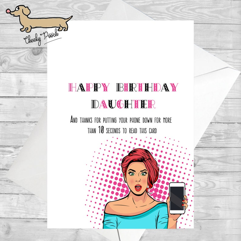 Funny Cards Card For Daughter Birthday