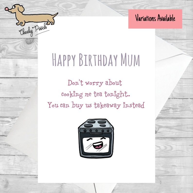 Funny Card For Mum Birthday Mothers Day