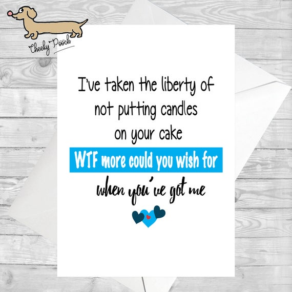 Funny Cards For Him Cheeky