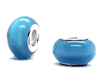 10 perles de verre feuille 14mm turquoise perles NEUF 3384