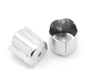x10 gunmetal bell cord tips for 6mm cord