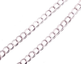 x1 meter double mesh chain silver horse 5mm