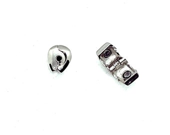 European magnetic clip clasp 12mm silver