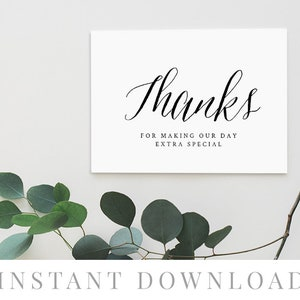 Folded Card Birthday Thanks Boy Girl Gender Neutral INSTANT DOWNLOAD Rustic Thank You Card Printable Digital File PDF Adventure Awaits