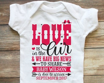 Valentine S Day Pregnancy Announcement For Grandparents Etsy