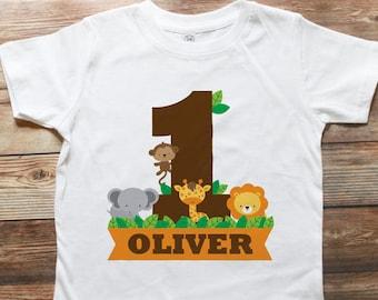 Safari Jungle Birthday Shirt