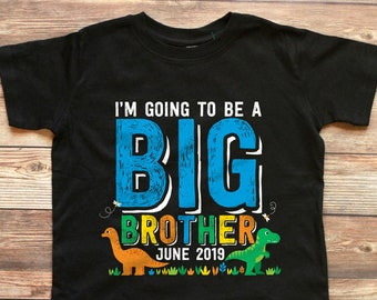 Dinosaur Baby Pregnancy Toddler Shirt Im Going to be a Big Brother! Rawr