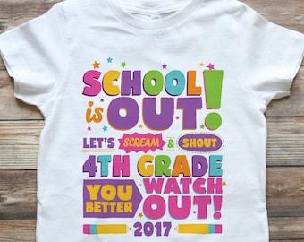 4aaf9a70fbad Girl Last Day of School Shirt - Last Day of Preschool Shirt - Last Day of  School Shirt - Last day of Kindergarten Shirt - Pre K Grad Shirt