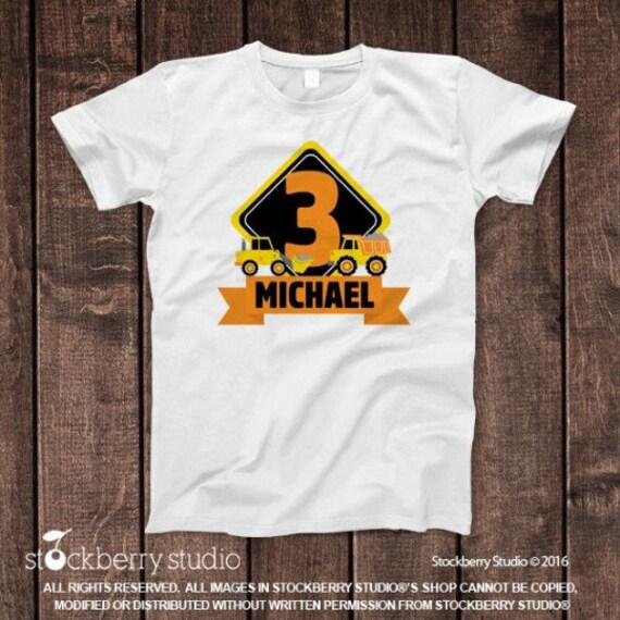 Construction Dumptruck Dump Truck Logo Kids Tee Shirt Pick Size /& Color 2T XL