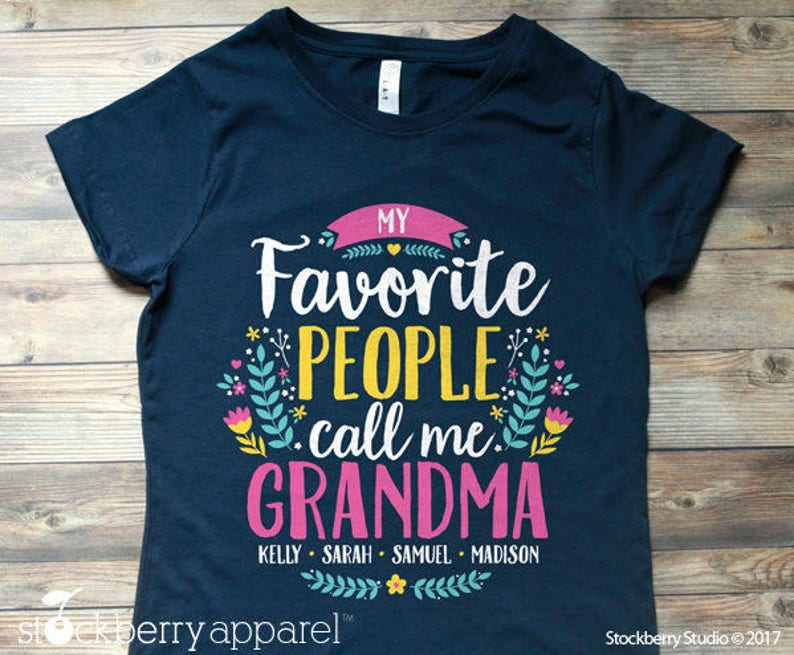 My Favorite People Call Me Mawmaw Shirt Birthday Gift