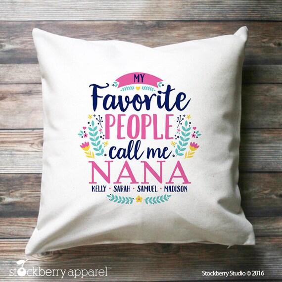 Nana Pillow Cover