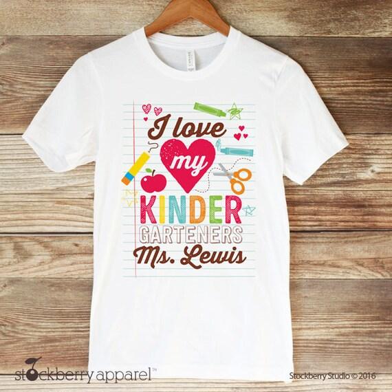 Kindergarten Teacher Shirt Teacher Appreciation Shirt Etsy