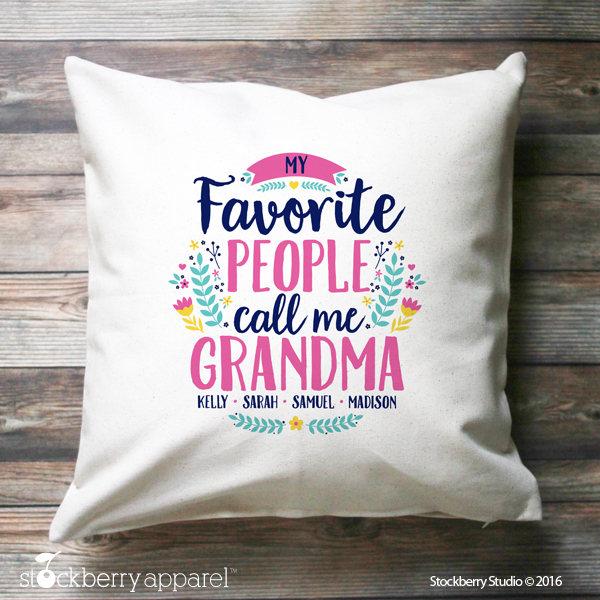 Grandma Pillow Cover