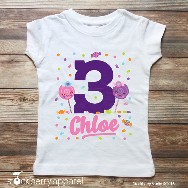 317884f7 Candy Birthday Shirt - Sweet Shop - Lollipop Shirt - Sweet Shoppe Party - Candy  Birthday Outfit - Girls Birthday Shirt - Girl 1st Birthday