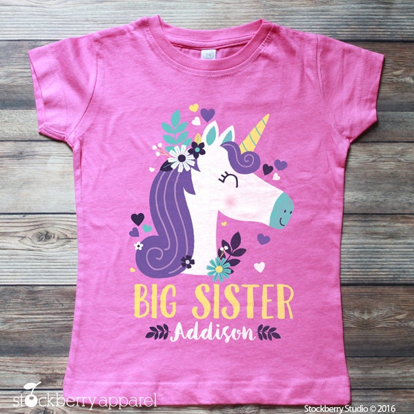 Unicorn Big Sister Shirt Big Sister Shirt Big Sister Outfit