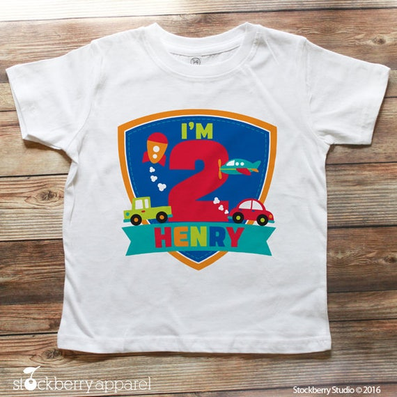Boy 2nd Birthday Shirt
