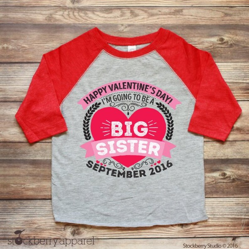 0349046b Valentines Day Big Sister Pregnancy Announcement Shirt | Etsy