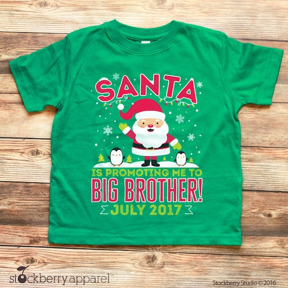 c2c46124 Christmas Pregnancy Announcement Shirt - Christmas Big Brother T Shirt -  Santa Baby Announcement - Personalized Christmas Sibling Shirt. Stockberry  Apparel