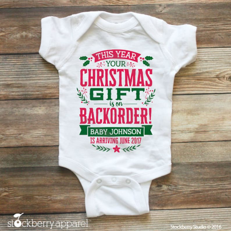 Christmas Pregnancy Announcement Baby Announcement Idea Etsy