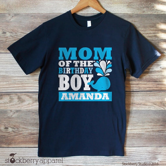 Whale Mom Of The Birthday Boy Shirt