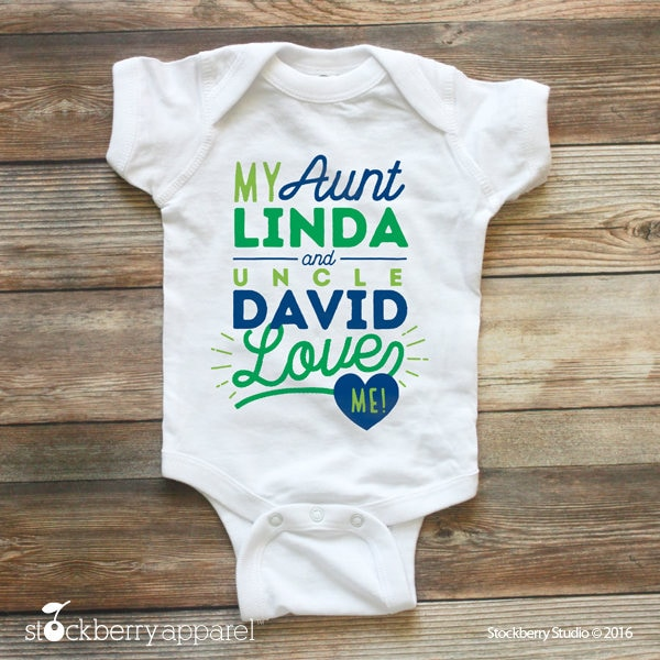 My aunt and uncle love me shirt custom baby clothes name i love my aunt and uncle love me shirt custom baby clothes name i love my aunt baby bodysuit personalized baby shower gift i love my auntie negle Gallery