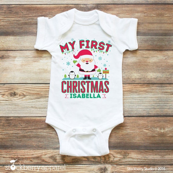 e30df8ec79a3 Baby's First Christmas Shirt My 1st Christmas Outfit | Etsy