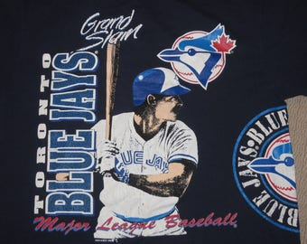2a88a3093446 MLB Baseball Vintage Toronto Blue Jays 90s 1991 T-Shirt Large Old School 2  Sided (  Free Shipping in USA   Canada  )(Or Best Offer)