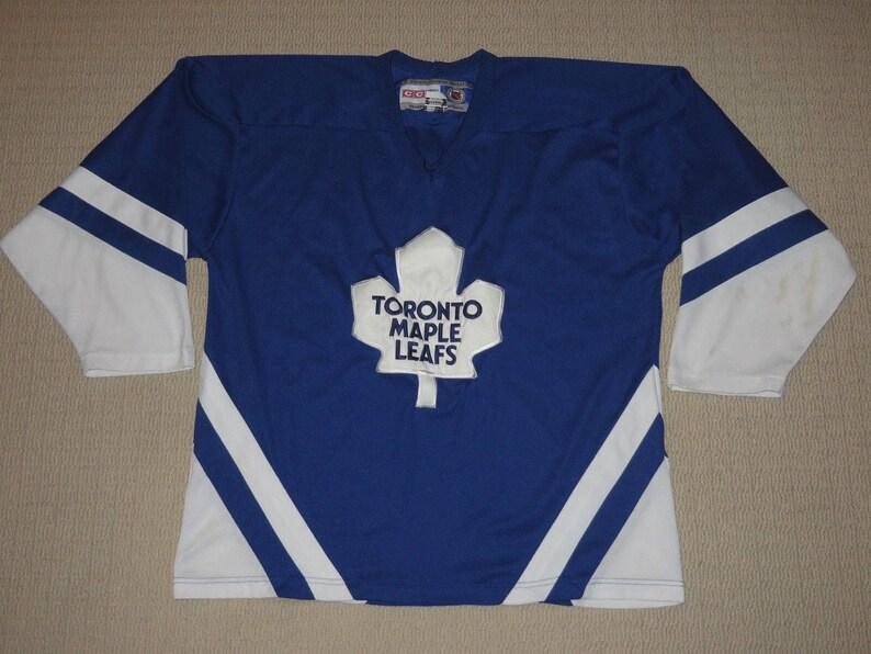 c8b35af4 NHL Hockey Vintage Retro 90s Toronto Maple Leafs Sewn Jersey | Etsy