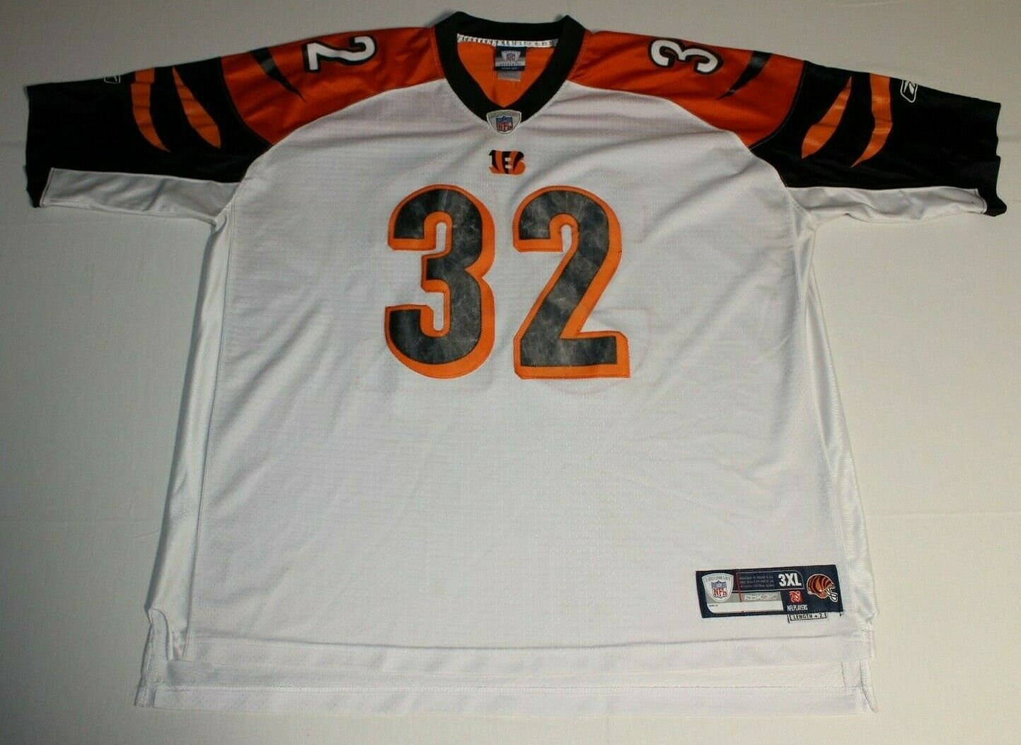 NFL Football Cincinnati Bengals Rudi Johnson #32 Sewn Jersey 3XL XXXL Reebok Make Me An Offer! (**Free Shipping in USA & Canada**)