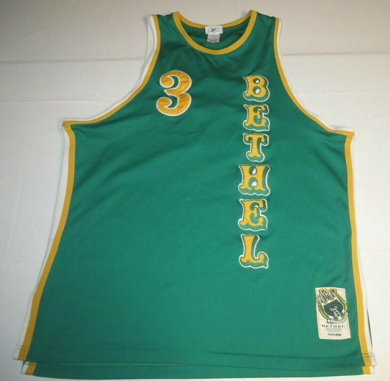 35af71ca1ce Mens Vintage Allen Iverson Bethel High School Sewn Jersey XL | Etsy