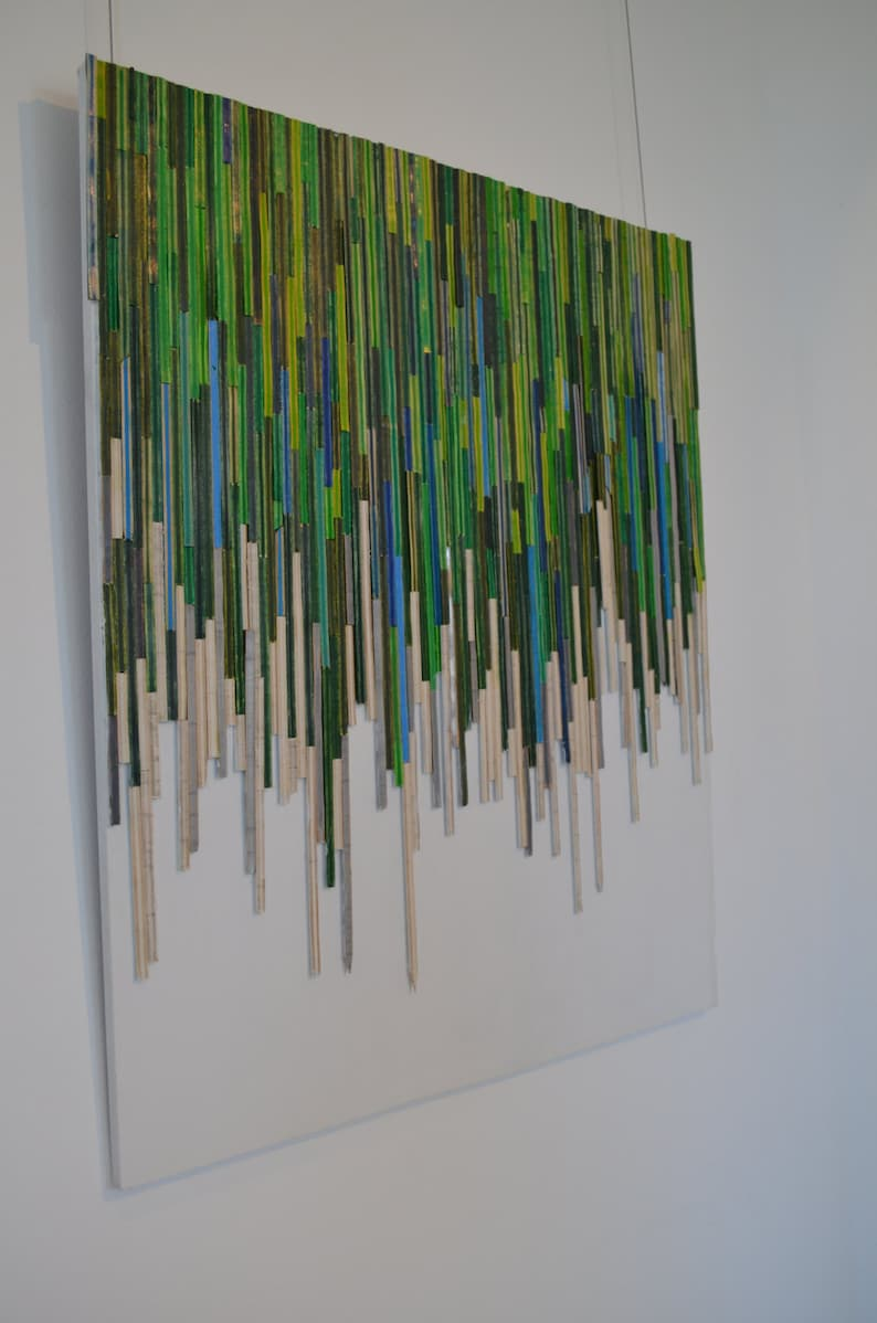 Split pencil Drip Art