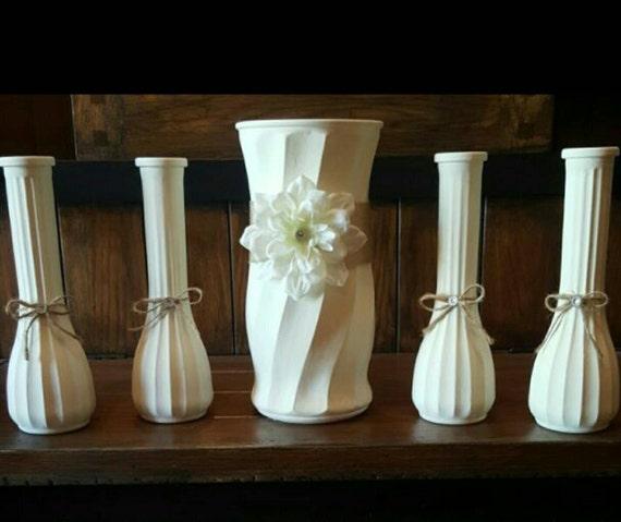 Chalk Painted Flower Vases Wedding Gift Home Decor Wedding Etsy