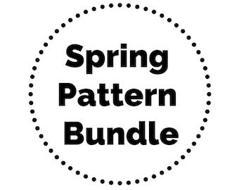 Baby Spring Pattern Bundle // Blanket Pattern // Baby Blanket Pattern // Crochet Headband Pattern // Baby Bow // Baby Shower Gift Crochet