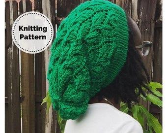 Slouchy Hat Pattern // Slouchy Beanie // Knitting Pattern // Lace Slouch // Slouchy Hat // Slouch hat // Slouch Hat Pattern // Elm Tree Hat