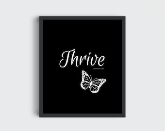 Wall Print // Wall Art // Inspirational Quote // Printable // Art for Bedroom // For office // Wall Hanging // Digital Prints // Thrive