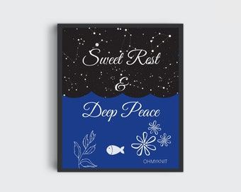 Wall Print / Wall Art / Inspiration / Graphic Wall Art / Art for Bedroom / For Kids Room / Wall Hanging / Digital Prints / Peace and Rest