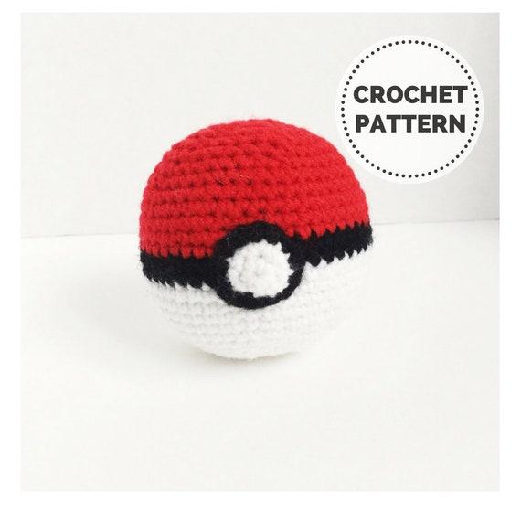 Pokeball Pokemon Plush Crochet Pokeball Crochet Etsy