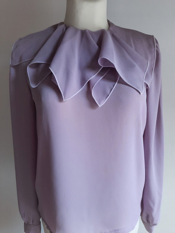 Vintage 1990s Dorothy Perkins lilac lavender ruff… - image 2
