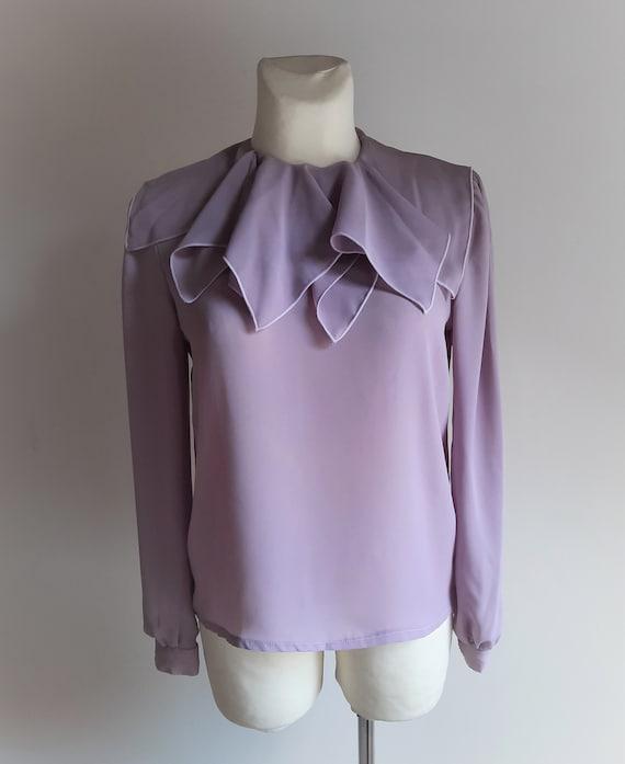 Vintage 1990s Dorothy Perkins lilac lavender ruff… - image 1
