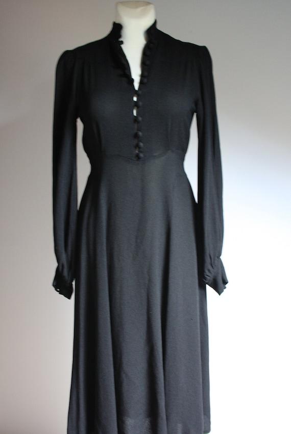 Ossie Clark for Radley 1970s vintage black moss cr
