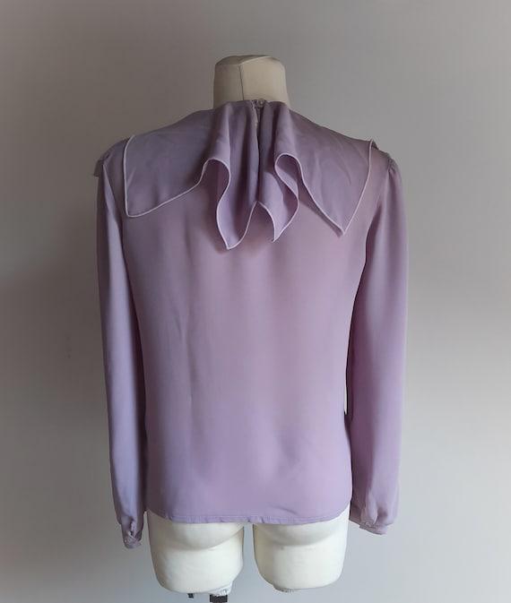 Vintage 1990s Dorothy Perkins lilac lavender ruff… - image 5