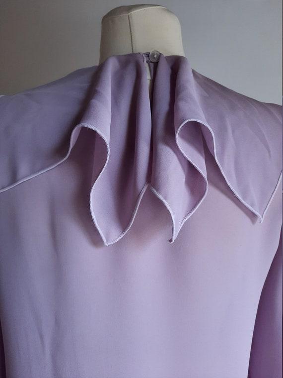Vintage 1990s Dorothy Perkins lilac lavender ruff… - image 6