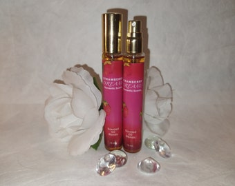 Strawberry Dreams Body Oil ROMANTIC SCENTS, Best Quality Spray, Uncut Fragrance, Premium Oil Unisex, Strawberry Scented Oils, 1 Glass Bottle