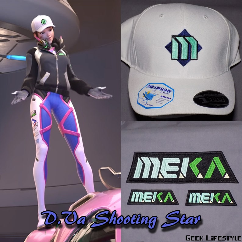 2b42378038e Hana Song Ver. 2 D.Va Shooting Star Complete Cosplay Set