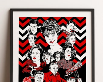 Twin Peaks Poster For Rolling Stone Magazine Etsy