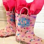 Monogram Children's Rain Boots