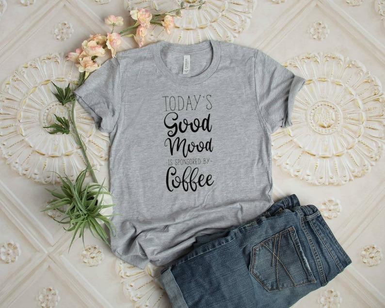 Coffee Tee  Coffee Shirt  Adult Coffee Tee image 0