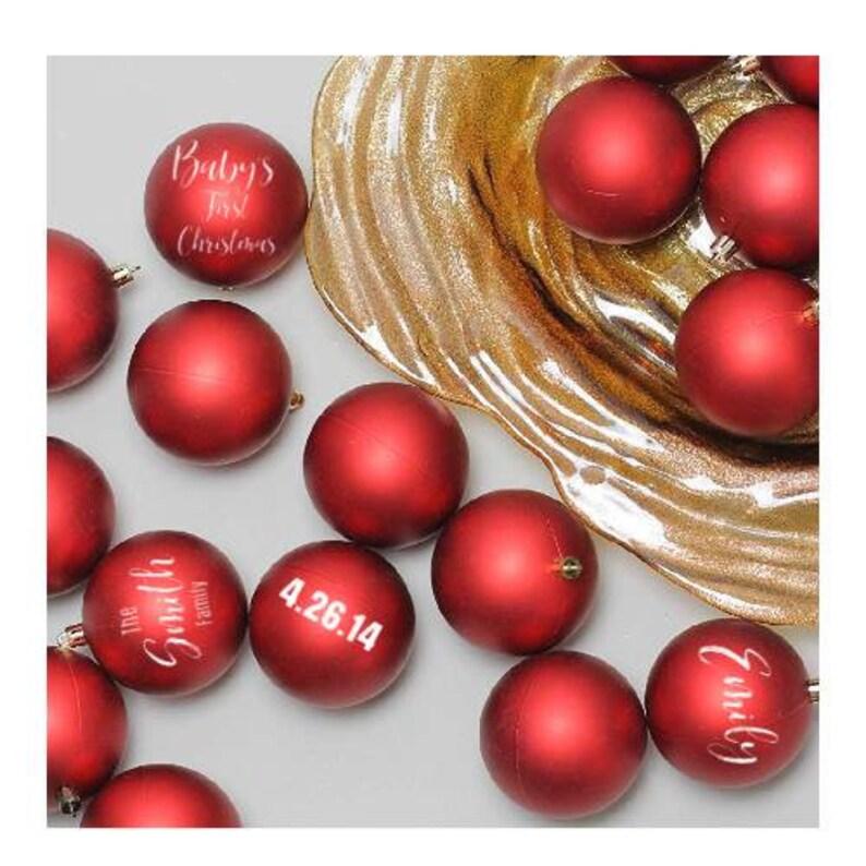 Personalized Christmas Ornament  Monogram Christmas Ornament image 0