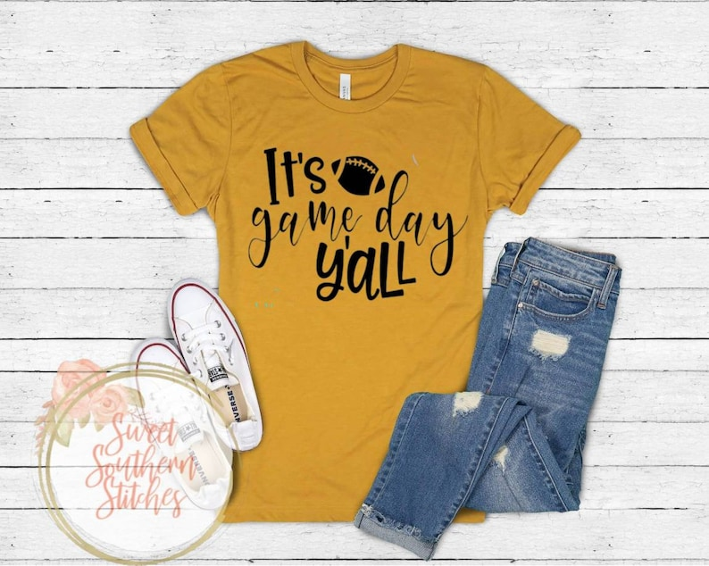 It's Game Day Y'all Tee  Game Day Tee  Footbal Tee image 0