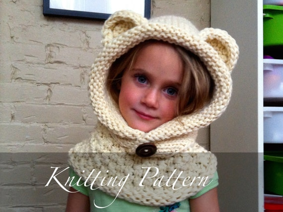 Knitting Pattern The Wee Wanderer Child Hooded Scarf Etsy